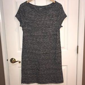LOFT Spacedye Comfy Black & White Dress Large EUC